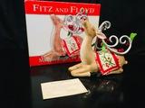 Fitz And Floyd -  Mingle, Jingle, Be Merry DEER FIGURINE #2