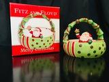 Fitz And Floyd -  Merry Christmas Santa Basket 2006