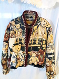 Painted Pony TEDDY BEARS TAPESTRY JACKET. (wed7)
