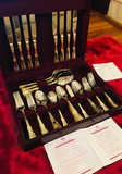 ROYAL ALBERT Flatware in Wooden Chest (46 Pieces)