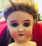 "CM Bergmann BB II Vintage #29 & 24"" Tall -  1913-1915 Baby Belle Doll German Doll bisque Head"