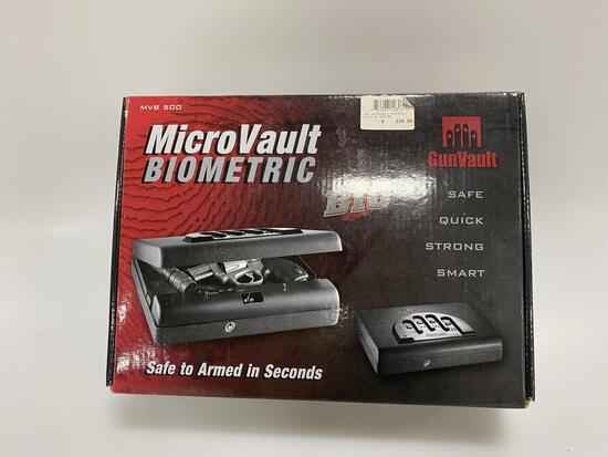 MicroVault BIOMETRIC Gun Vault New in Box