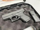 Glock G42 380 Pistol New in Box 2 Mags 5.5