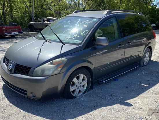 2005 NISSAN QUEST GRY Tow# 99143