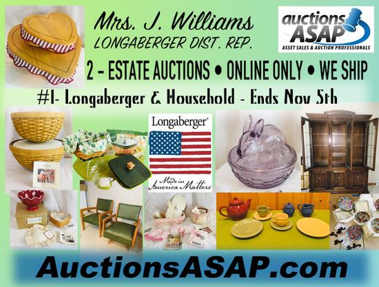 Estate Auction of: J Williams #1 OF 2