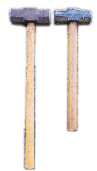 "2 Sledge Hammers 26"" & 20"" Long Head 6.5 & 6"