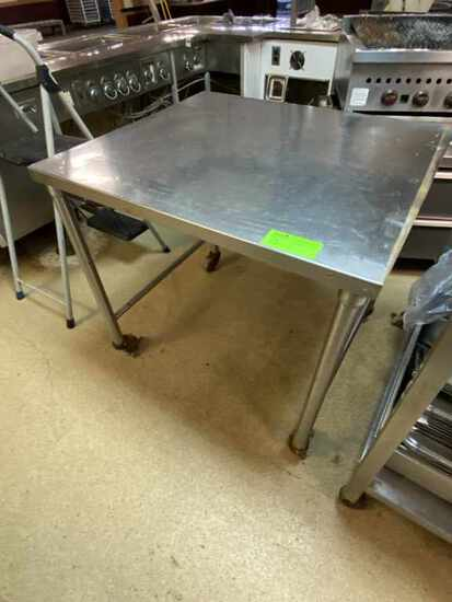 Stainless Steel Work Table w/Casters.