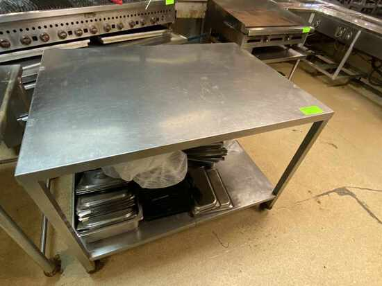 Stainless Steel Work Table w/Lower shelf on caster