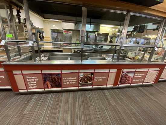 Center Section Buffet Line Grill Area w/Glass