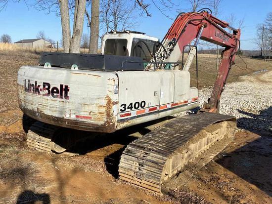 LinkBelt 3400 Track Excavator Link Belt