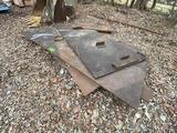 Lot of Large Thick Steel Plates