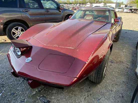 1978  CHEVROLET  CORVETTE   Tow# 105075