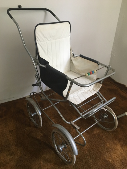 Vintage Antique Baby Carriage
