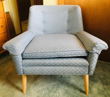 Mid Century Style Casual Baby Blue Chair