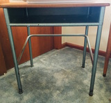 Small Wood & Metal Desk