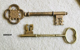 Large Metal Skelton Keys Marked KENTUCKY