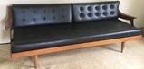 MCM Long Black Sofa (apt)