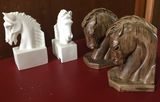 2 Sets of Bookends of Horse Heads