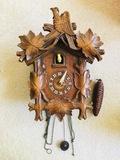 Vintage Cuckoo Clock Maple Leaf Design