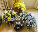 4 Basket Flower Arrangements