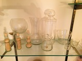 Glass Display Vessels, Lidded Candy, Stacked Bubbles, Apothecary Jar & more