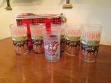 5 Matching Kentucky Derby Glasses, 1 Kentucky Derby Festival, 6 PK Titan Cooler
