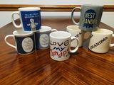 Collection of coffee mugs with the theme of grandpa - grandma