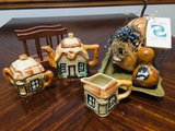 Tea Set & Halloween - Fall Decor