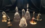 Crystal brass metal etched dinner bells