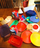 Assortment of Tupperware Containers, Extra Lids, New Containers & More