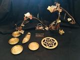 Decorative brass coasters, hotplate, metal art