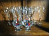 12 Wine Glasses & 2 Carnival Cruise Line Glasses
