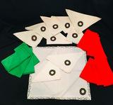 Christmas Napkins Embroidery, Red & Green Napkins.