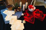 Christmas Decor, Placemats, Napkins, Candles, Baskets