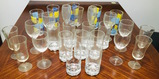 4 Various Sets of Glasses