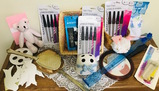 Lg Lot of Nail Files, Mirror, Brush, Wind-chime, Pink Bear, Basket, Back Scratcher, & more