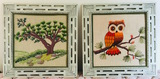 2 Framed Embroidery Pieces