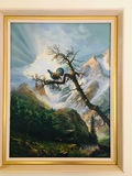 W. Reiwaum Framed Original Painting 1961 from Italy