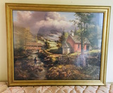 Framed Print of Country Side Home and Stream