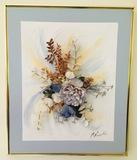 3 Dimension Framed Original Art of Flowers