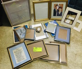Large Lot of Metal Picture Frames