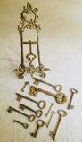 Collection of Skelton Keys Decor & Display Holder