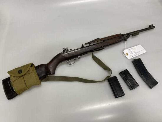 30 Cal M1 Military Rifle Underwood w/Mags & Pouch