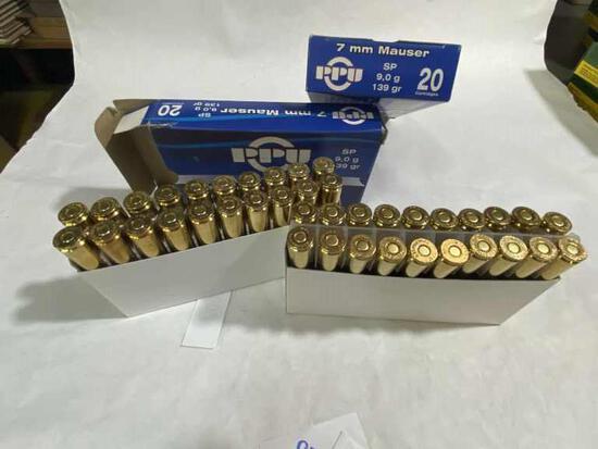 PPU 7mm Mauser 139gr Ammo 40rds