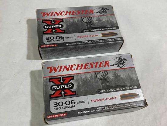 Winchester 30-06 SPRG 150 Gr Rifle Ammo 40rds