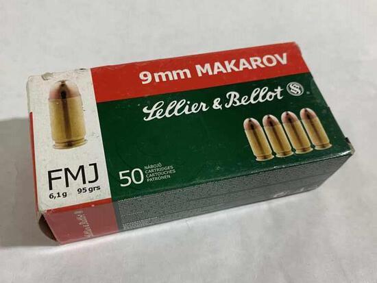9mm MAKAROV Sellier & Bellot 95gr Pistol Ammo