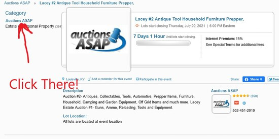 Lacey Personal Property Auction Open for Bid Now.  Check our other auctions