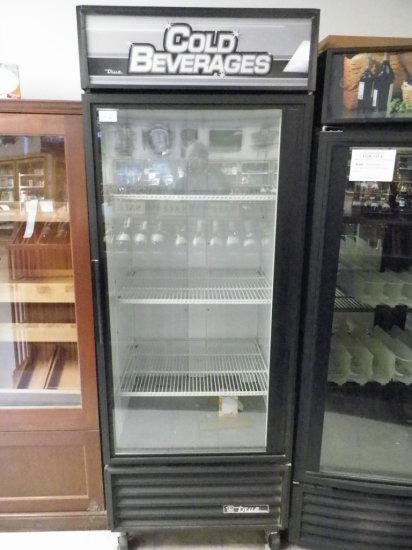 True, Single Door Beverage Cooler. Model GDM 26. Twenty Six Cubic Feet.