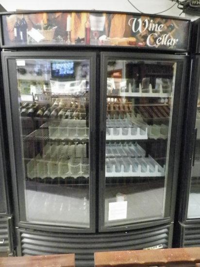 True, Two Door Beverage Cooler. Model GDM 49W-RF. Forty Nine Cubic Feet.