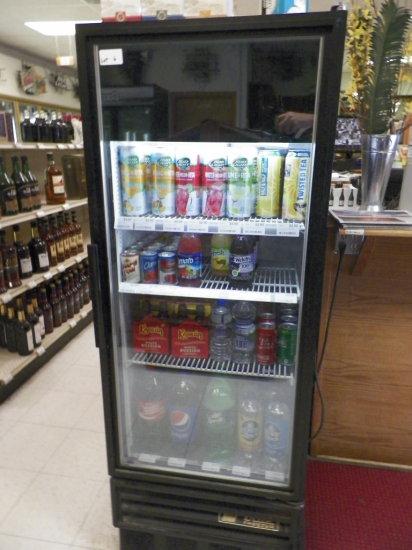 True, Single Door Beverage Cooler. Model GDM12F. Twelve Cubic Feet.